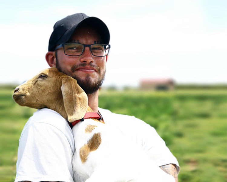 A Man and His Goat: The Story of Chris and Belle